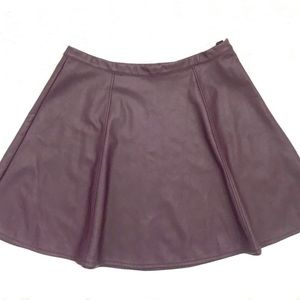 LC Lauren Conrad Faux Leather Skirt
